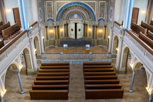 Sinagoga Neologă Sion din Oradea (interior)