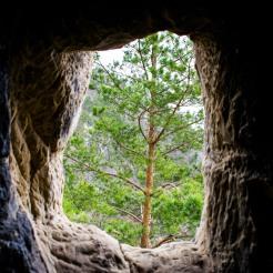 Chilia lui Dionisie Torcătorul (vedere din interior)