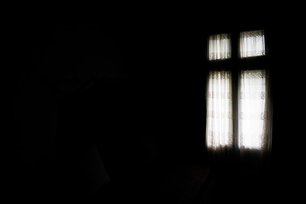 Inside my grandmother's bedroom.