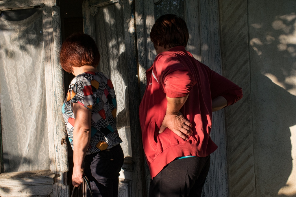 My two aunts revisiting their childhood house.